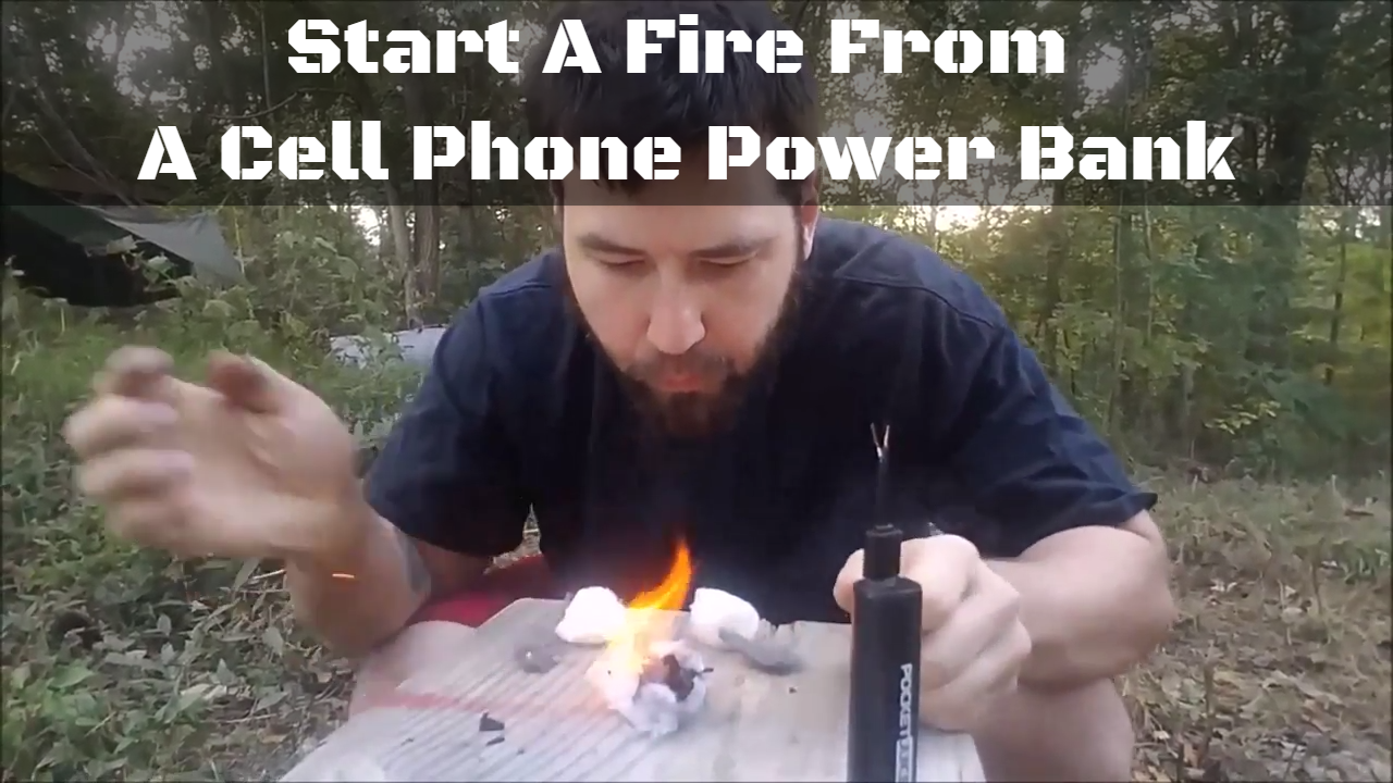 how you can start a fire from a portable cell phone power bank. Black Bedroom Furniture Sets. Home Design Ideas